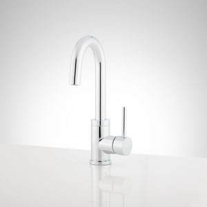 Signature Hardware Ravenel Single Lever Handle Bar Faucet in Polished Chrome SHXCRA103CP
