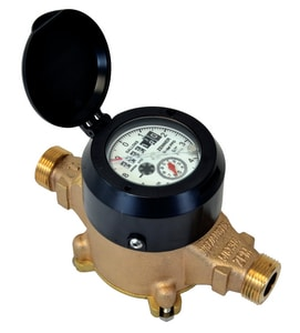 Zenner 5/8 x 3/4 in. Displacement Type Magnetic Drive Cold Water Meter ZPPD02USXPPB