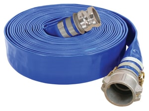 Abbott Rubber Co Inc 1-1/2 in. x 50 ft. Male Quick Connect x Female Quick Connect PVC Discharge Hose in Blue A1148150050CE