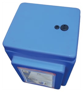 Peabody Engineering and Supply ProChem® PailVault™ Plus LDPE Chemical Spill Containment Enclosure in Blue P25332861 at Pollardwater