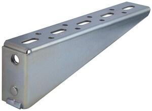 FNW® Figure 7811 30 in. Electro-galvanized Steel Left Slotted Shelf Bracket FNW78118LZ3000