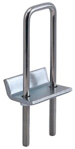 FNW® Figure 7801 6-1/2 in. Electro-galvanized Steel Strut to Beam Clamp with Square U-Bolt FNW780168Z