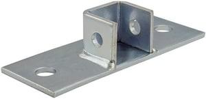 FNW® Figure 7854 1-5/8 in. 2 Hole 304 Stainless Steel Standard Single Channel Post Base FNW785421S4