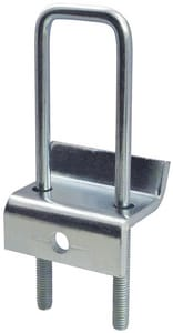 FNW® Figure 7801 3-1/4 in. Electro-galvanized Steel Strut to Beam Clamp Double with Square U-Bolt and J-Hook FNW780165Z