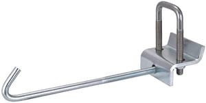 FNW® Figure 7801 1-5/8 in. Electro-galvanized Steel Strut to Beam Clamp with Square U-Bolt and J-Hook FNW780162ZPU