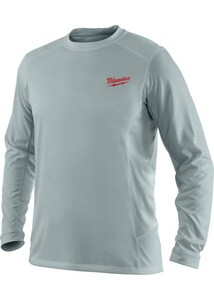 Milwaukee Workskin™ XL Size Light Weight Performance Long Sleeve Shirt in Grey M411GXL