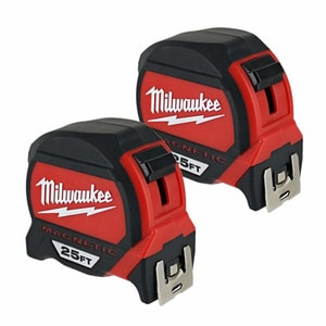 Milwaukee 25 ft. Magnetic Measure Tape 2 Pack M48227125G
