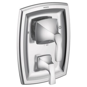 Moen Voss™ Two Handle Bathtub & Shower Faucet in Polished Chrome (Trim Only) MT2690