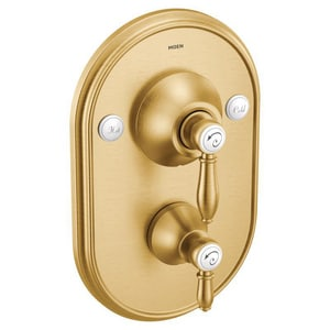 Moen Weymouth Two Handle Bathtub Shower Faucet In Brushed Gold Trim Only Ts32100bg Ferguson