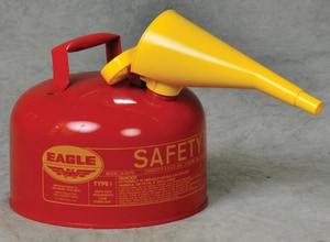 Eagle Type I 2.5 gal. Type I Safety Metal Gas Can with Funnel EUI25FS at Pollardwater