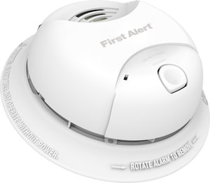 BRK Electronics Power Cell Smoke Alarm with 10 Year Sealed Lithium Battery in White BSA350B at Pollardwater