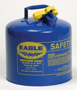 Eagle Type I 5 gal Safety Can with Non-Sparking Flame Arrestor in Blue EUI50SB