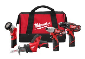 Milwaukee M12™ Hackzall® Cordless 12V Reciprocating Saw 4 Tool Kit M249824