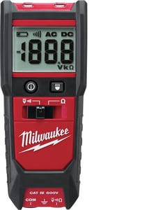 Milwaukee 600V Auto Voltage or Continuity Tester with Resistance M221320 at Pollardwater