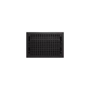 Signature Hardware Mission 8 x 12 in. Residential Cast Iron Floor Register in Black Powder Coat 917441-8