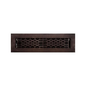 Signature Hardware Antique 2-1/4 x 10 in. Residential Cast Bronze Ceiling & Sidewall Register in Distressed Dark Bronze SH238332
