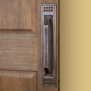 Signature Hardware Mission 3 in. Brass Door Pull in Brushed Nickel 917347
