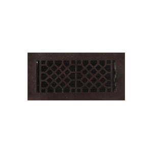 Signature Hardware Antique 4 x 10 in. Residential Cast Bronze Ceiling & Sidewall Register in Distressed Dark Bronze SH238336