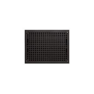 Signature Hardware Mission 10 x 14 in. Residential Cast Iron Floor Register in Black Powder Coat 917441-10