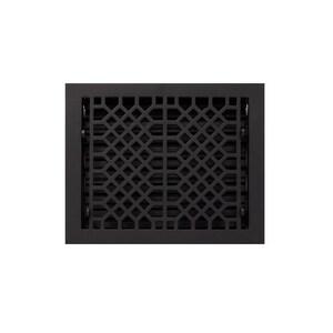 Signature Hardware 9 x 12 in. Floor Register in Black Powder Coat Cast Iron SH203343