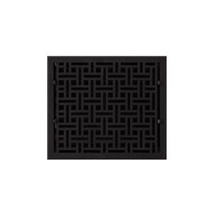 Signature Hardware 12 x 14 in. Floor Register in Black Cast Iron SH398289