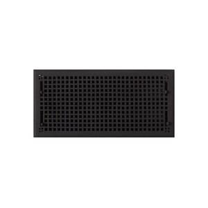 Signature Hardware Mission 9 x 20 in. Residential Cast Iron Floor Register in Black Powder Coat SH302177