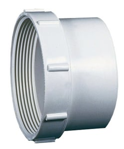 3 in. Spigot x FPT Sewer Clean-Out and Straight SDR 35 PVC Adapter MUL040953