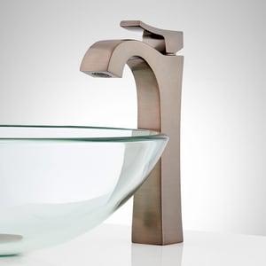 Signature Hardware Vilamonte Single Handle Monoblock Bathroom Sink Faucet in Oil Rubbed Bronze SHWSCVL100LORB