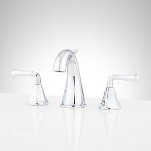 Signature Hardware Key West Two Handle Widespread Bathroom Sink Faucet in Polished Chrome SHWSCKW800CP