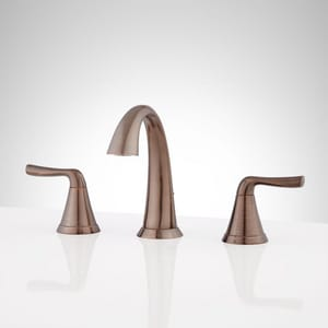 Signature Hardware Provincetown Two Handle Widespread Bathroom Sink Faucet in Oil Rubbed Bronze SHWSCPR800ORB