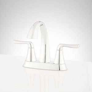 Signature Hardware Provincetown Two Handle Centerset Bathroom Sink Faucet in Polished Chrome SHWSCPR400CP