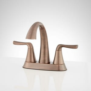 Signature Hardware Provincetown Two Handle Centerset Bathroom Sink Faucet in Oil Rubbed Bronze SHWSCPR400ORB