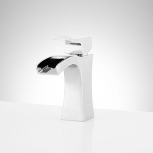 Signature Hardware Vilamonte Single Handle Monoblock Bathroom Sink Faucet in Polished Chrome SHWSCVL105CP