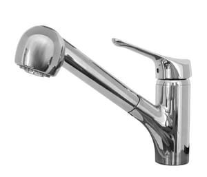 Franke Consumer Products Vesta Single Handle Pull Out Kitchen Faucet in Polished Chrome FFFPS20000