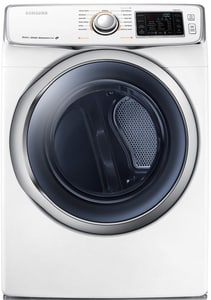 Samsung 38-11/16 in. 7.5 cf Electric Dryer with Steam in White SDV42H5600EA3