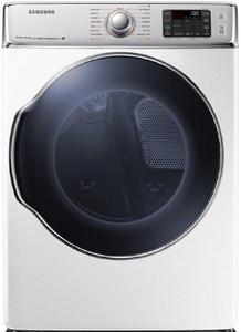 Samsung 37-4/5 x 42-5/8 in. 9.5 cf 22000 BTU Gas Dryer with Steam in White SDV56H9100GWA2