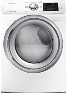 Samsung 32-3/8 x 38-11/16 in. 7.5 cf Electric Front Load Dryer in White SDV42H5200EWA3