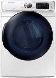 Samsung 32-5/8 x 38-3/4 in. 7.5 cf 22000 BTU Gas Dryer with Steam in White SDV50K7500GA3