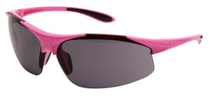 ERB Safety Ella Polycarbonate and Nylon Pink Safety Glass with Grey and Anti-fog Lens E18621 at Pollardwater