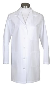 ERB Safety S Size 65/35 Poly Poplin Female Lab Coat in White E82524 at Pollardwater
