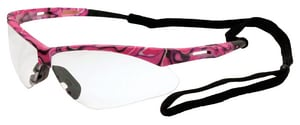 ERB Safety Annie Polycarbonate Pink Camo Safety Glass with Clear Lens E15341 at Pollardwater