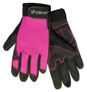 ERB Safety Girl Power at Work® L Size Neoprene, Spandex and Synthetic Leather All Purpose Gloves E28859