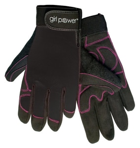ERB Safety Girl Power at Work® M Size Spandex, Synthetic Leather and Rubber All Purpose Gloves E28863