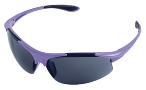 ERB Safety Girl Power at Work® Polycarbonate and Nylon Purple Safety Glass with Grey Lens E18625 at Pollardwater