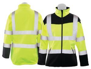ERB Safety XXXL Size Spandex Softshell Polyester Women Softshell Jacket in Hi-Viz Lime E62201 at Pollardwater