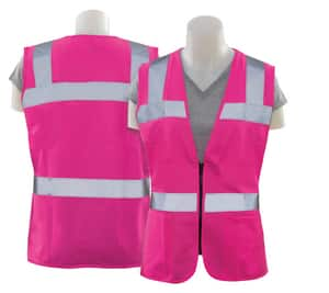 ERB Safety XXXXL Size Polyester Women Safety Vest in Hi-Viz Pink E61924 at Pollardwater