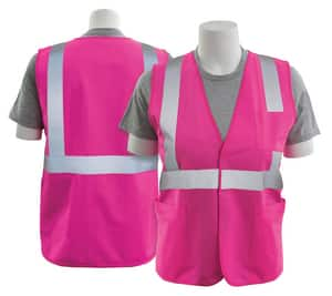ERB Safety XXXXL Size Polyester Safety Vest in Hi-Viz Pink E61336 at Pollardwater
