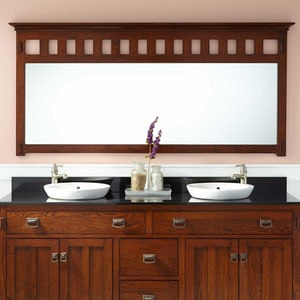 Signature Hardware Harington 75-1/2 in. Rectangular Vanity Mirror in Oak SH413649