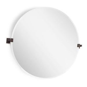 Signature Hardware Helsinki 34-3/4 in. Round Tilting Mirror in Oil Rubbed Bronze SH407032