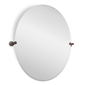 Signature Hardware Seattle 32-1/2 in. Oval Tilting Mirror in Oil Rubbed Bronze SH406941